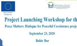 Peace Matters: Dialogue for peaceful Coexistence Project Launched